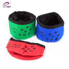 Professional manufacturer outdoor oxford waterproof travel collapsible dog bowl