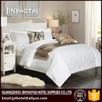 Hot sale! shiny gold jacquard duvet cover for hotel