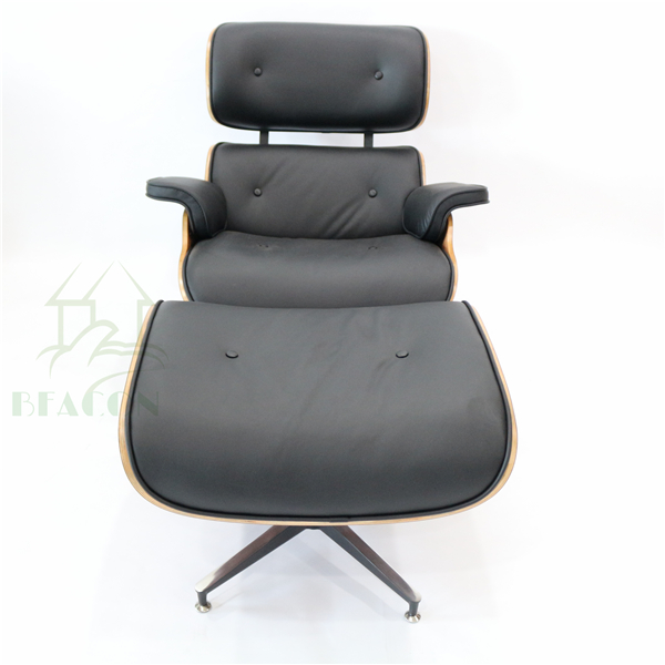 Alibaba wholesale Emes aniline leather lounge chair for living room and hotel