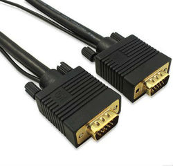 30ft Svga/vga Monitor Gold Cabl Cable Rgb Coax Hd15 Male