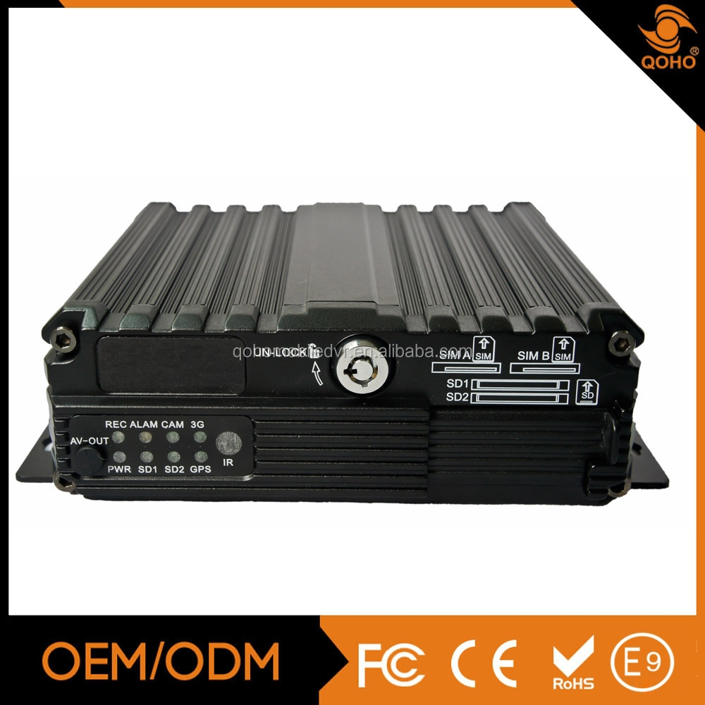 4 Channels 960H double SD card Mobile DVR/Mobile NVR Language