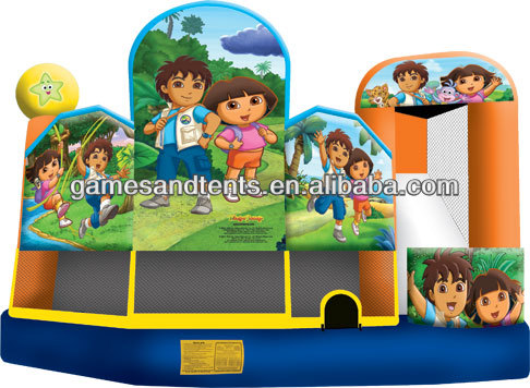 2014 inflatable boy and girl's castle,inflatable combo castle A2113