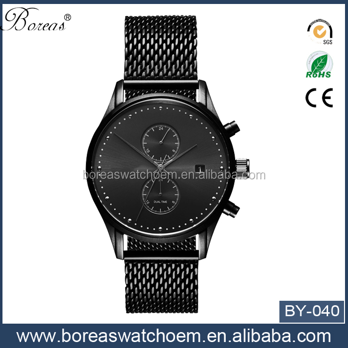Accept OEM ODM LOGO cheap slim vogue chronograph watch in 2016