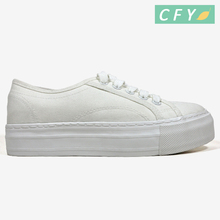 new model girl student new rubber white canvas school shoes ladies soft sole cheap price vulcanized art craft canvas shoe