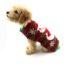 2017 Hot Fashion Christmas Pet Dog Christmas Snowman Clothes Puppy Winter Sweater Costume Coat