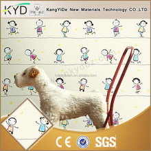 Not easy to fade decorative bright color best kids bedroom wallpaper