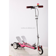 3 Wheels folding double pedals wingfly stepper scooter for sale