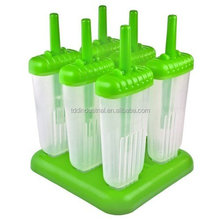 Ice Pop Popsicle Molds, Green - Set of 6