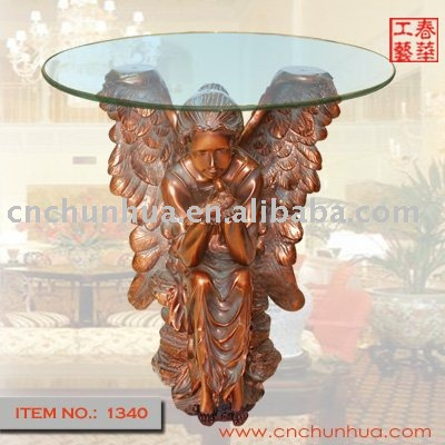 Wholesale Factory Direct Sales Angel Tea Table Resin Crafts