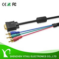 YITAILI Premium 28AWG Gold plated RCA to VGA Cable with One Ferrite cord