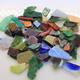 Decorative color mixed tumbled stained glass wholesale