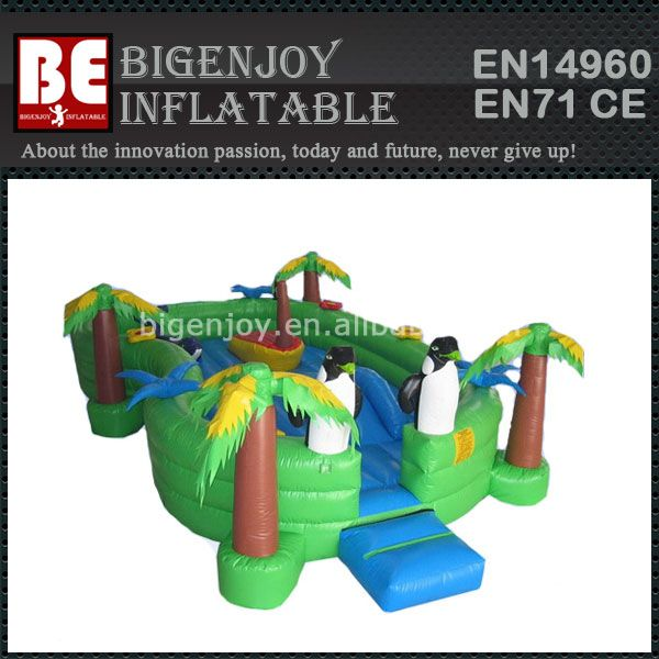 Fun Jungle Baby Island, Jungle Inflatable Toddler Fun Land