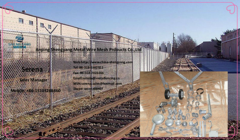 green chain link playground fence (China fence manufacture with cheap price)