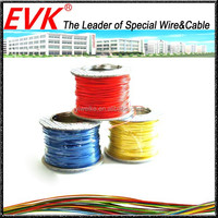 Silicone resin rubber coated copper wire cable