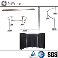 Circular drape suport pipe pole drape system for wedding party , special event
