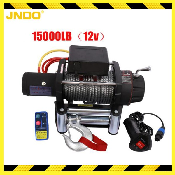 12V 15000lbs heavy duty 4wd electric winch