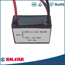 CBB61 Ceiling Fan 2 Wires Motor Run Capacitor AC 450V 3uF