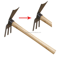 360mm garden tools farm back rotary wooden hoe handle