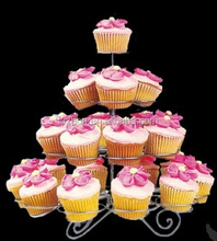 4 tier cupcakes trays hold 23pcs cakes