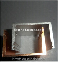 golden anodizing extruded aluminum enclosure for electronic product profiles aluminium extruded aluminum cases