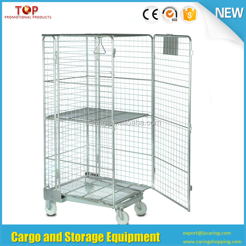 Wire Container Type and Heavy Duty Scale 5 sides rolling security cage