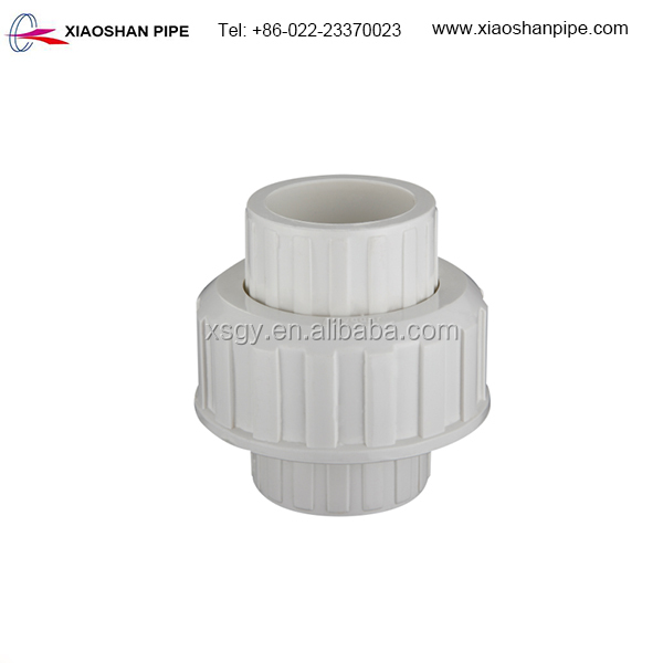 American standard astm sch 40 plastic pipe fitting pvc union