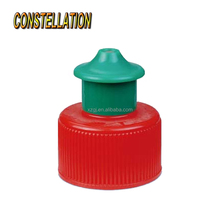 Colorful plastic push pull cap China Alibaba supplier plastic sport bottle used push pull cap