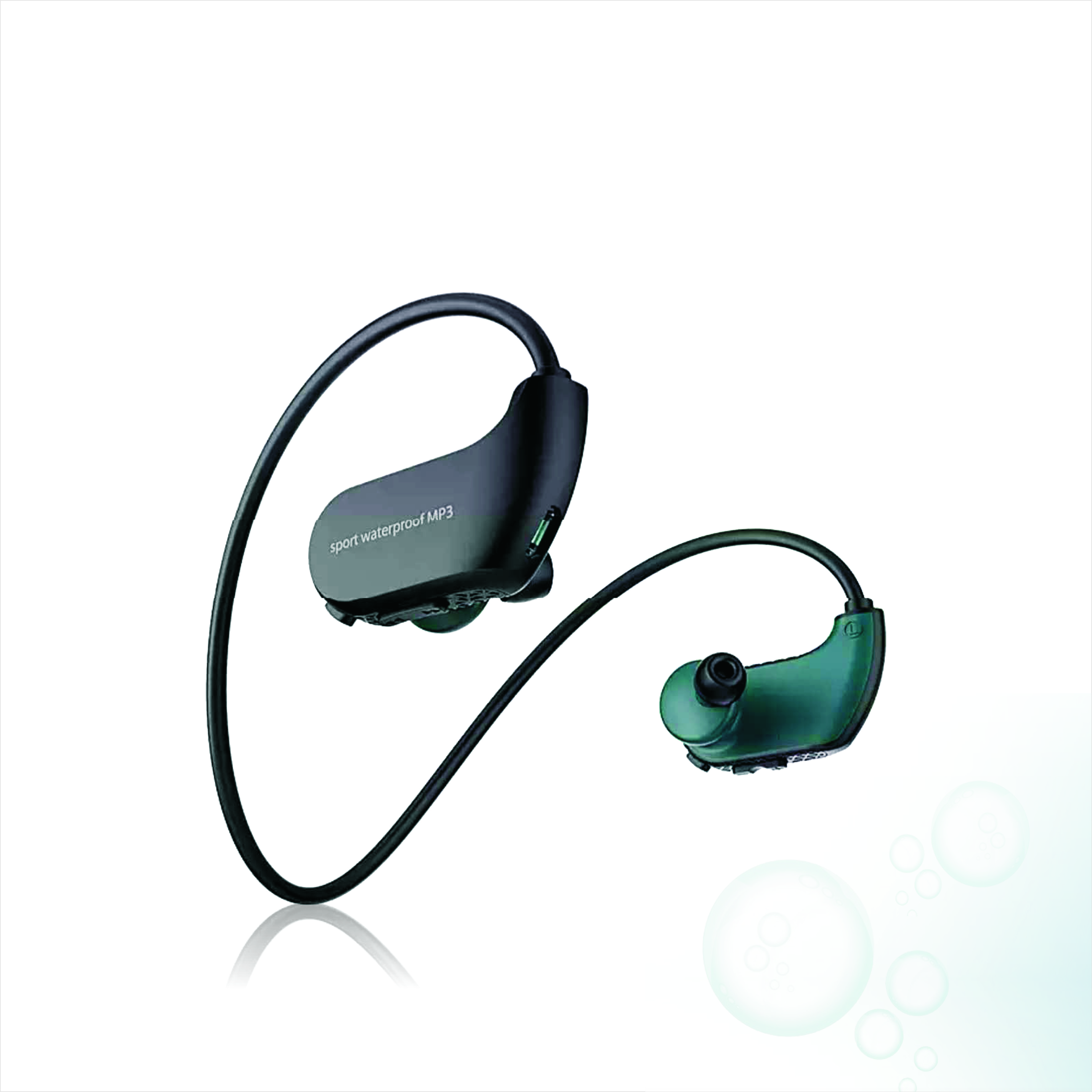 Swimming mp3 diving waterproof sports MP3 <strong>player</strong> in Ear build in 100mAh Battery IPX-8