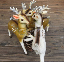 custom made colorful reindeer figure, reindeer figurine for chrismas gifts, OEM plastic Animal figures
