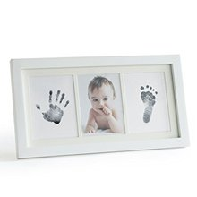Unilove lovely Baby photo Handprint Kit Footprint pictures frame