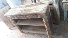 Indian wooden hand made unique reclaimed wooden table/bookshelf Indian furniture