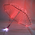 2018 New trend blade runner light led flash clear led umbrella with torch,lightsaber umbrella