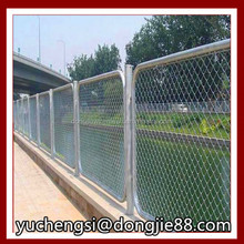 plastic chain link fence/9 Gauge Chain Link Fabric