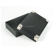 Little Black Paperboard Box with metal corner