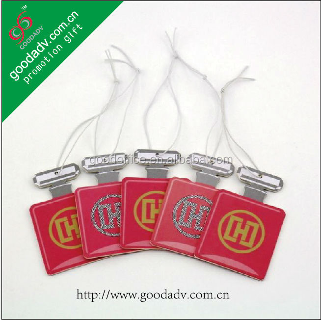 Long lasting perfume high quality bottle shape novelty product air freshener for car