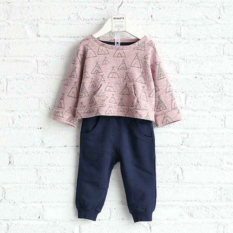 Fashion Causal Kids Clothes Children Spring Set/Girl Baby Causal Wear