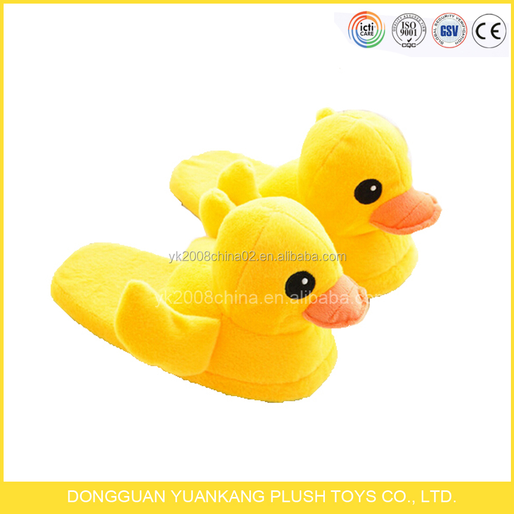 2016 Plush Stuffed Slipper Duck Soft Lady Plush Slipper