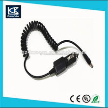 Single pull retractable car cigarette lighter power cable
