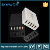 China 2016 new products usb charger 5 usb port include qc 3.0 port local mobile phone charger for iphone