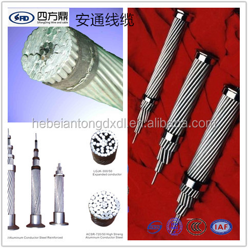 Overhead Bare conductor Aluminum conductor steel reinforced cable ACSR Dog 100mm conductor