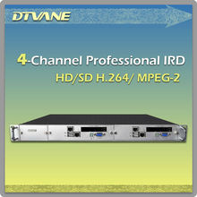 (DMB9060) Four channel MPEG-2, H.264 AVC HD Satellite Descrambler