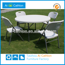 5ft restaurant round Table and Chairs For Party / Hotel Banquet Folding Table