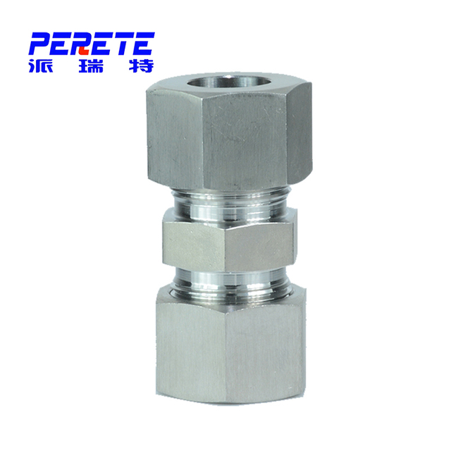 DIN 2353 Stainless Steel Straight Tube Fitting With Swivel Nut Coupling Connector Made In China