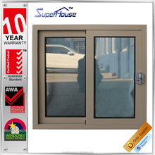 Aluminium brown color horizontal sliding windows sections comply with Australian standard AS2047