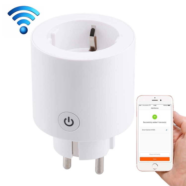10A 2.4GHz WiFi Control Smart Home Power Socket Works with Alexa & Google Home, EU <strong>plug</strong>