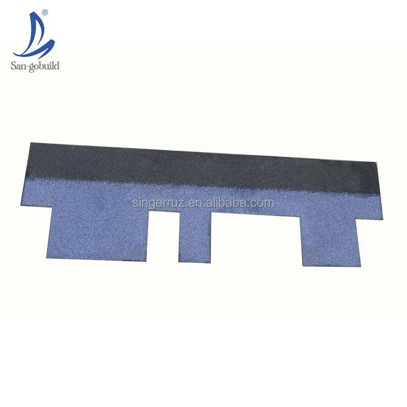 Hotsale modern villa house roofing design lightweight roof sheet materials San-gobuild color fiberglass asphalt roofing shingles