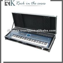 RK keyboard case 61 Key Board Case with Adjustable Z-lock Foam and Low Profile Wheels