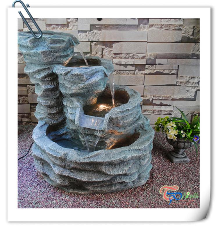 Chine nouveau style int rieure artificielle en fiber de for Fontaine eau decoration interieure