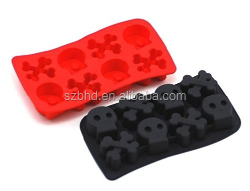 DIY Creative Fish Bone Shape Silicone Ice Cube Mold Ice Pop Jelly Mould Tray