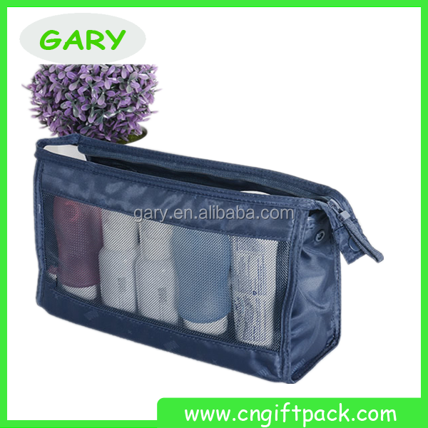 wholesales small cosmetic bag fashion Deep Blue Makeup bag